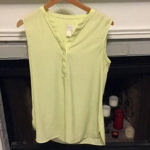 Women's Lime Green Chico's Sleeveless Blouse